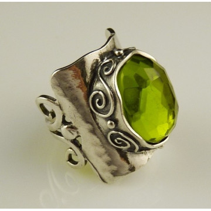 Inel argint peridot - R2976