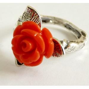 Inel argint sardinia coral R2626
