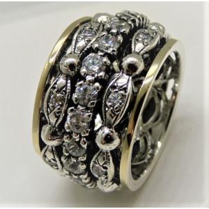 Inel argint si aur 14k -RG10-143