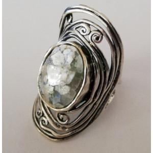Inel argint sticla romana R8570