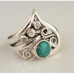 Inel argint turcoaz A11630