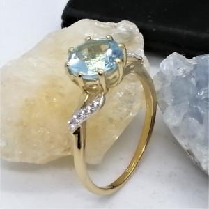 Inel Diana-argint placat si aur -topaz VR015554