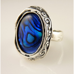 Inel din argint abalone R2603
