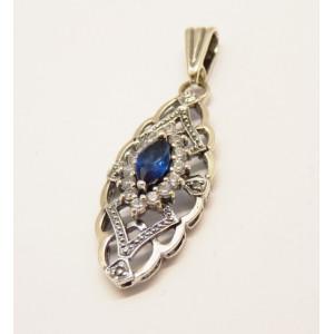 Pandantiv argint blue quartz P3342