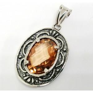 Pandantiv argint champagne quartz E2662-1481