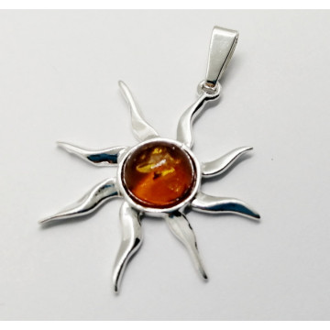 Pandantiv argint chihlimbar - P1671
