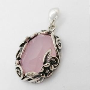 Pandantiv argint P7005 cuart roz