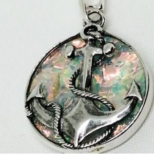 Pandantiv delicat din argint -emailat -ANCORA -P2893