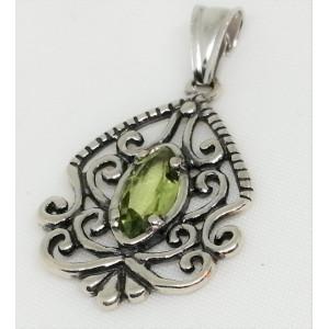 Pandantiv din argint peridot -E2661