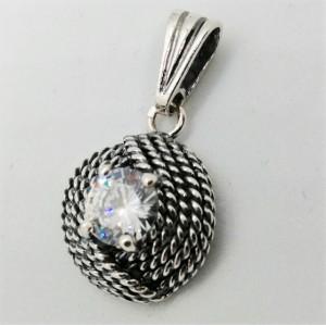 Pandantiv din argint si cubic zircon-P1686