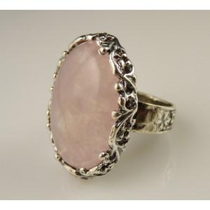 Inel argint A11777 cuart roz