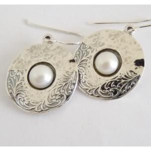 Cercei argint cu perla - E2064