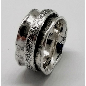 Inel argint cu verigi pivotante-R1436