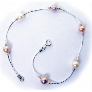 Bratara argint si goldfilled--perle BPA-10