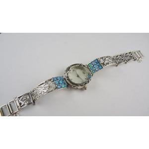 Ceas argint cu opal- W3581
