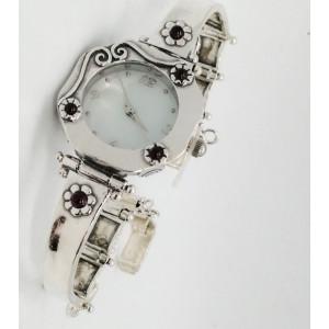 Ceas argint granat -W1536