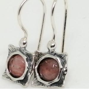 Cercei argint cherry quartz -E2874B