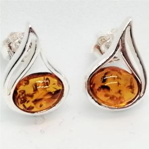 Cercei argint chihlimbar E502