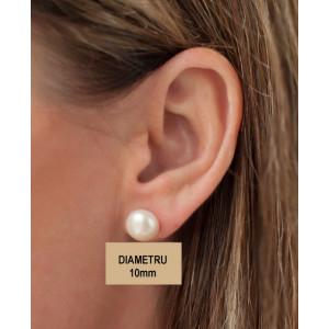Cercei argint cu surub - bobita perla- ORON5436AG10