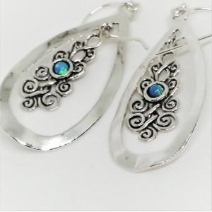 Cercei argint E10406 opal