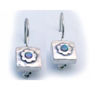 Cercei argint opal E1285