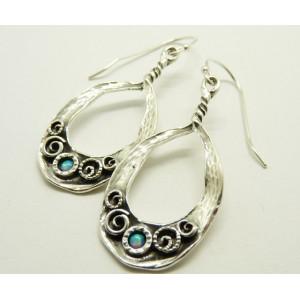 Cercei argint opal E6094