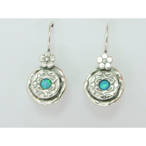 Cercei argint opal E708
