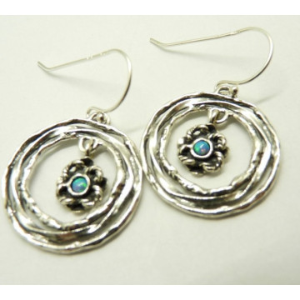 Cercei argint opal E9070-5