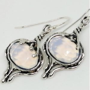 Cercei argint opalit E10925