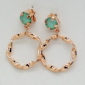 Cercei argint placati cu aur roz -E19 0367 -2120