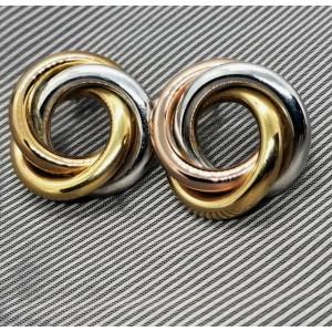 Cercei argint si argint placat cu aur -ORGA0144RTLC
