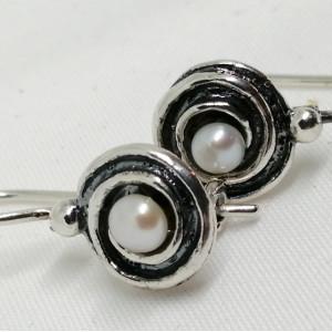 Cercei argint si perla de cultura E1583
