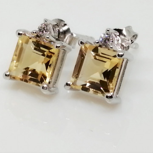 Cercei argint -VE015826 citrin