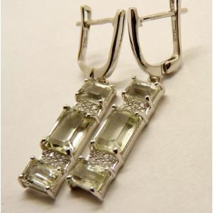 Cercei argint VE07885- green ametist