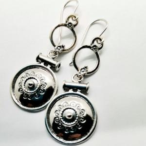 Cercei argint vintage -E1437