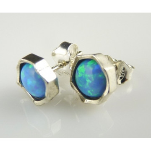 Cercei cu surub ,piatra opal E2740A
