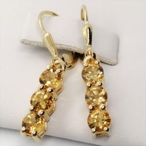 Cercei delicati- SERENA-argint placat cu aur- VE014969 citrin