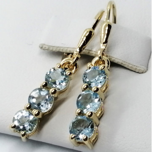 Cercei delicati- SERENA-argint placat cu aur- VE014969-topaz