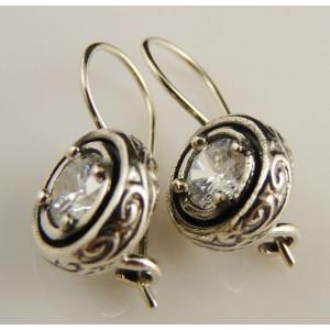 Cercei din argint -zircon E3246