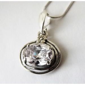 Colier argint zircon  E1708-1481