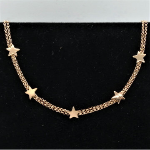 Colier choker -SALERNO-argint placat cu aur galben -CTSS3371RH5ST