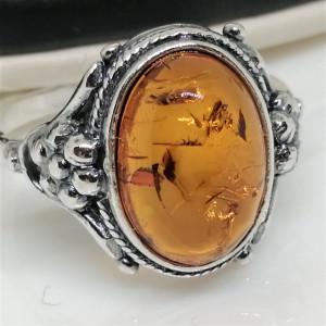 Inel argint chihlimbar -R2072