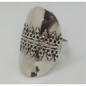 Inel argint decorat in relief -R8216