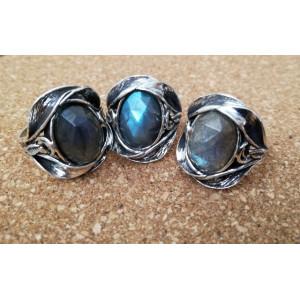 Inel argint labradorit R8029