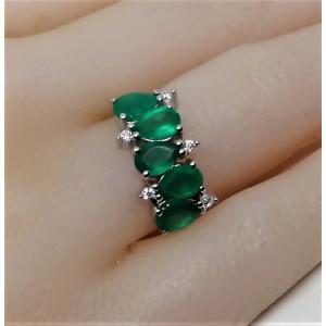 Inel argint onix verde -VR014375