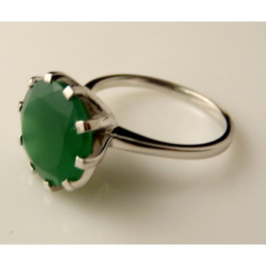Inel argint onix verde -VR014712