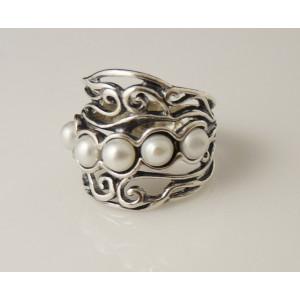 Inel argint perla R1291