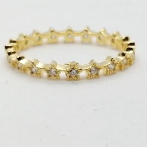 Inel argint placat cu aur galben -R21 1978 -1905 INEL