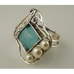 Inel argint R5471 - Blue ocean quartz