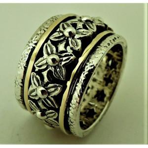 Inel argint si aur 14k -RG10-132